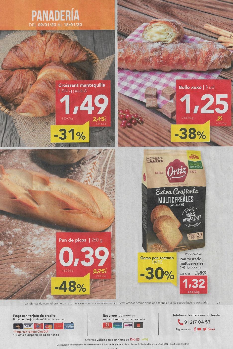 Panaderia DIA ofertas hasta el -48% Dto.