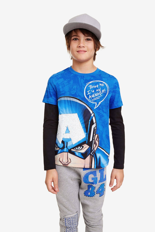Camiseta Niños Capitán América Desigual
