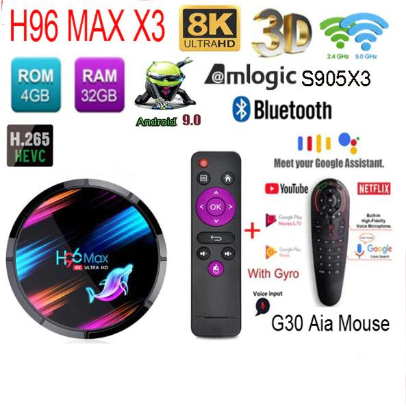 H96 Max X3 Amlogic S905X3 4GB de RAM 128GB