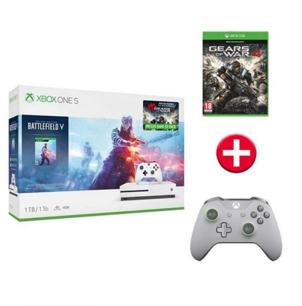Pack Xbox One S Battlefield V + GoW4 + mando