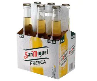 Pack 6 Cervezas rubia nacional SAN MIGUEL FRESCA (AlCampo)
