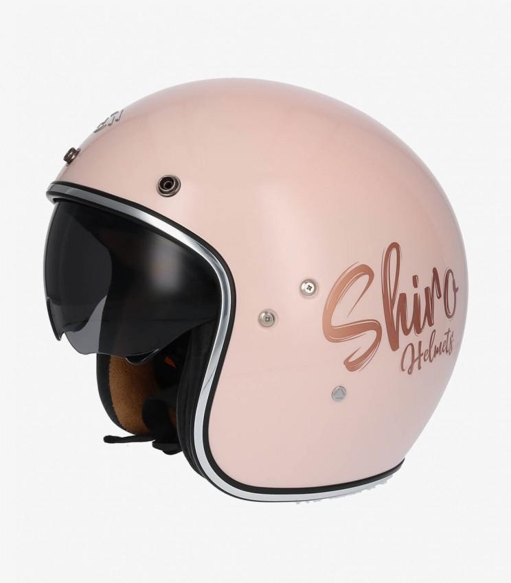 Casco shiro rosa tipo yet con gafas solares SH-235 GLAM