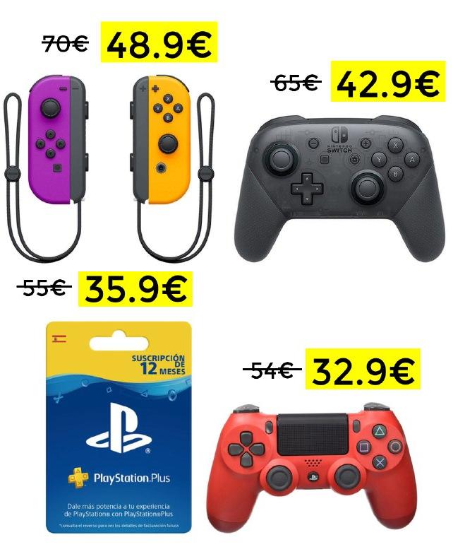 Chollazos en juegos y accesorios con 20€ de regalo