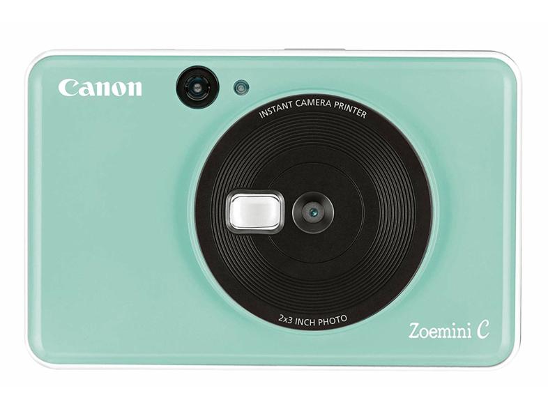 Cámara instantánea - Canon Zoemini C, 5MP, 314x500 ppp, Espejo selfie, 10 hojas, MicroSD, Verde