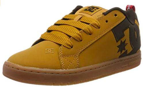TALLA 38 COLOR MARRÓN - DC Shoes (DCSHI) Court Graffik Se-Low-Top Shoes For Men, Zapatillas de Skateboard para Hombre