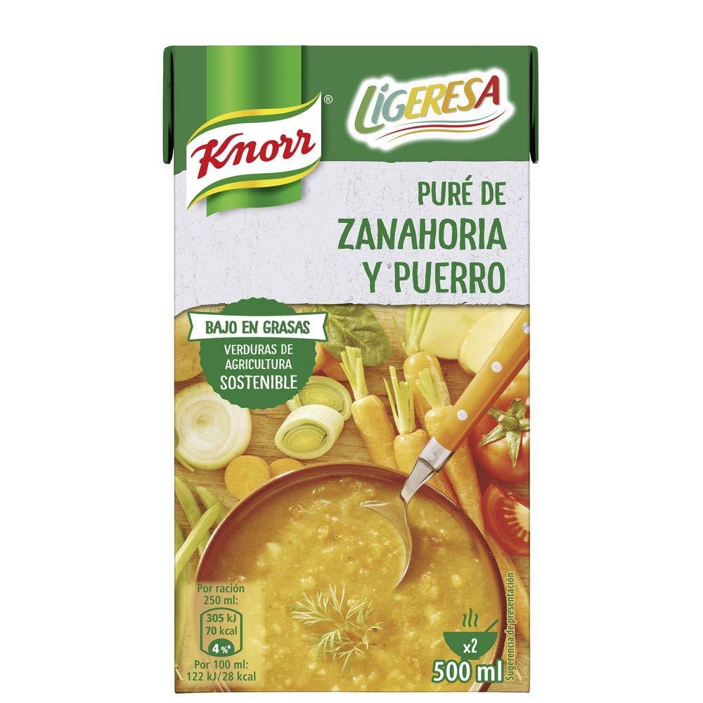 Pack 6 Crema de Zanahoria y Puerro Knorr Ligeresa