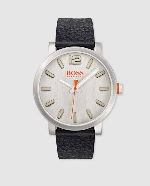 Reloj de hombre Hugo Boss Orange de piel negro
