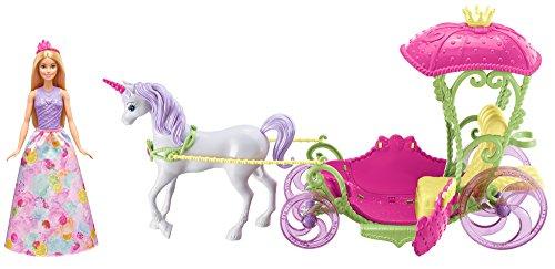 (REACO) Barbie Dreamtopia, carroza Reino de Chuches con muñeca y unicornio