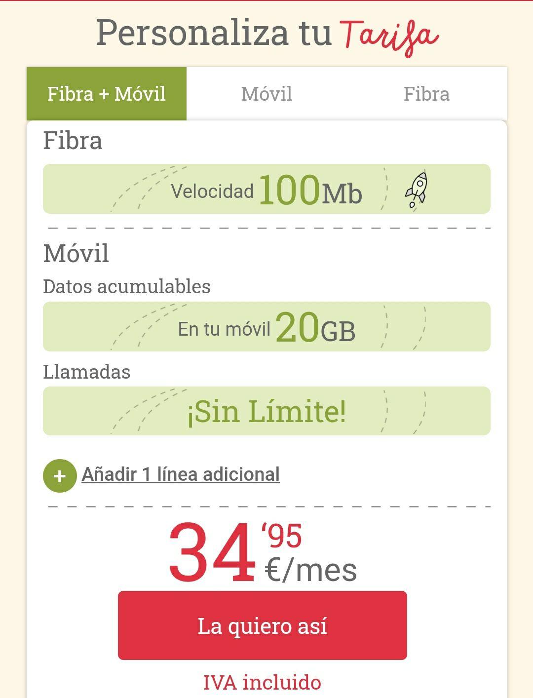 VUELVE LA FIBRA + MOVIL DE LOWI A 34.95 PARA SIEMPRE