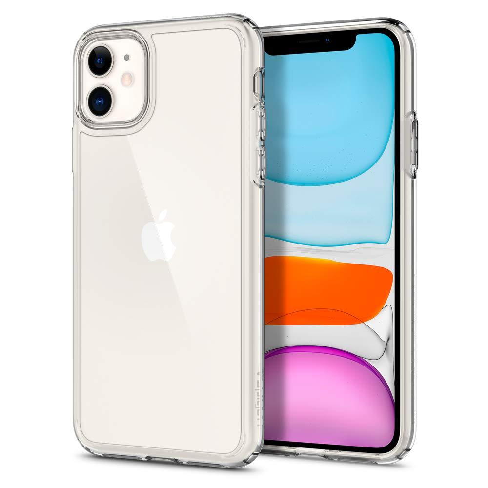 Funda transparente de silicona para iPhone 11