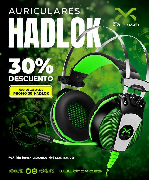 Auriculares HADLOK de Droxio Gaming | 30% descuento