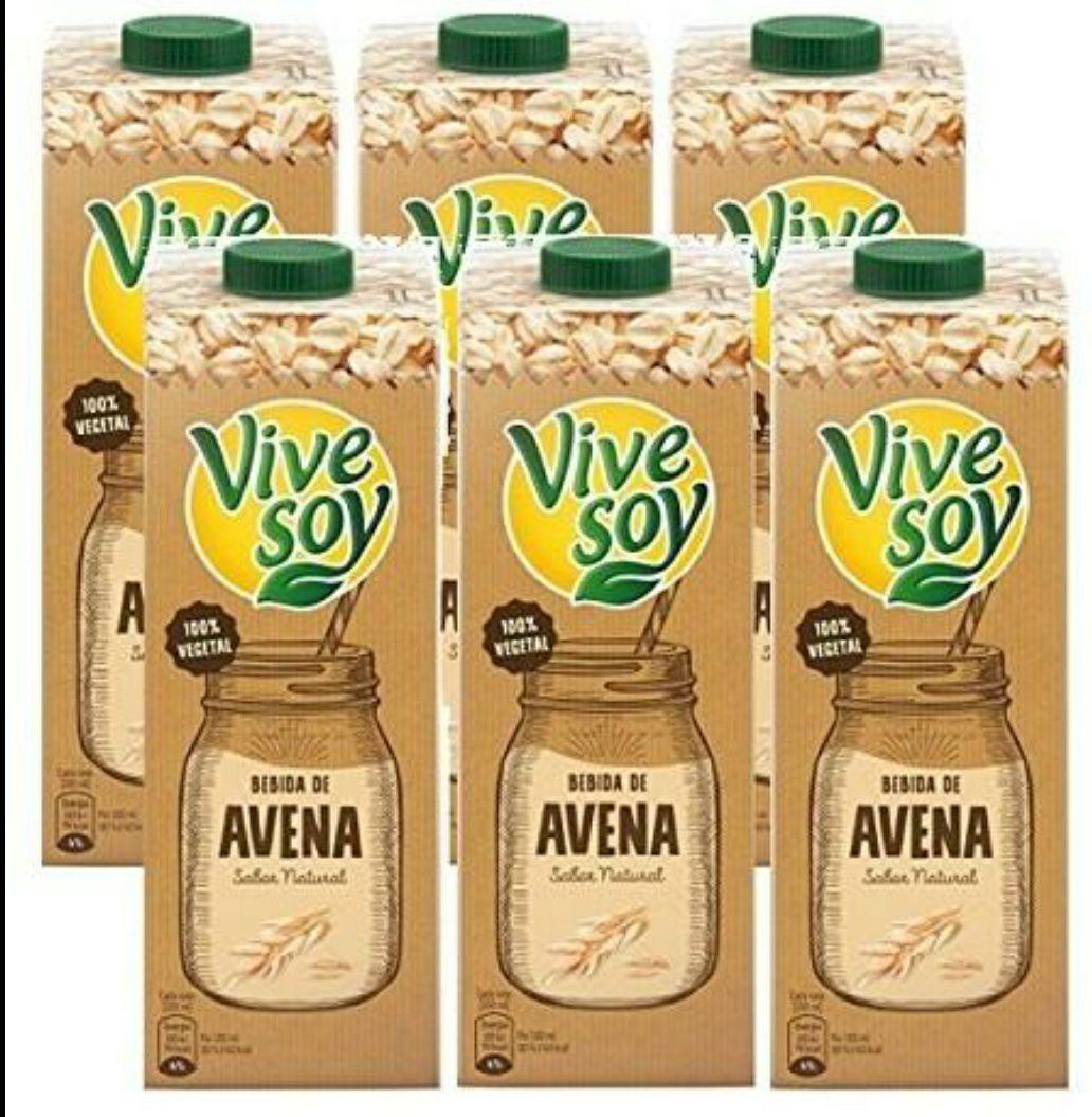 Pack de 6 litros de bebida de avena Vivesoy