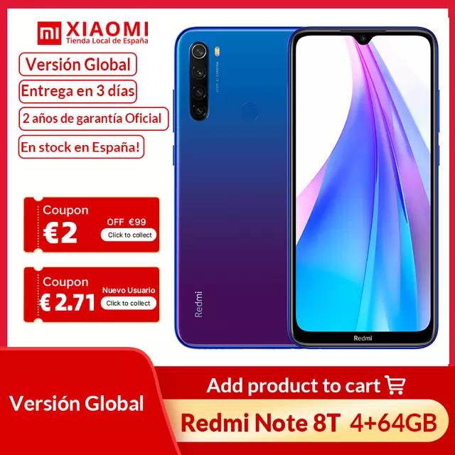 Redmi Note 8T 4/64 GB desde España