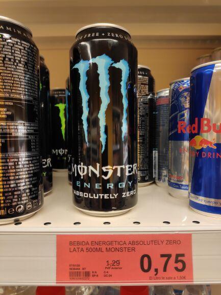 Monster Absolutely zero, 0 azucar y calorias (Supersol de la plaza Zurbarán, Sevilla)