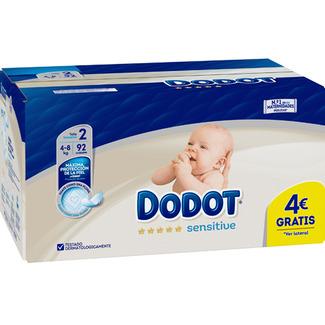 Pañales Dodot sensitive, 2 paquetes de 92 unidades