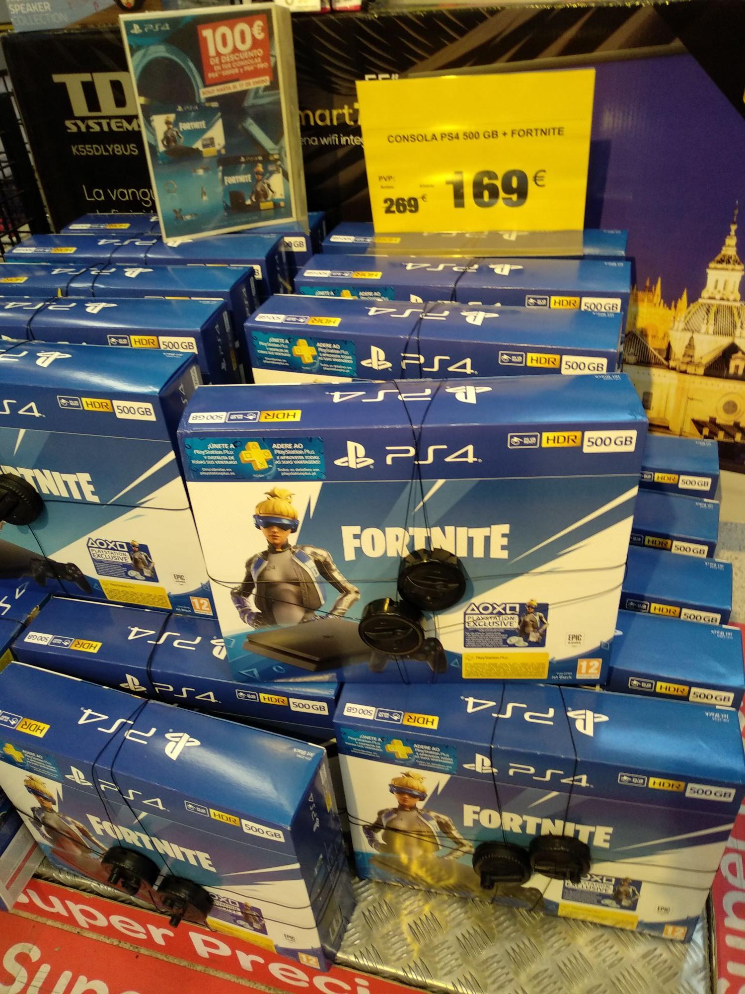PS4 + Fortnite (Carrefour Centro Comercial Las Arenas)