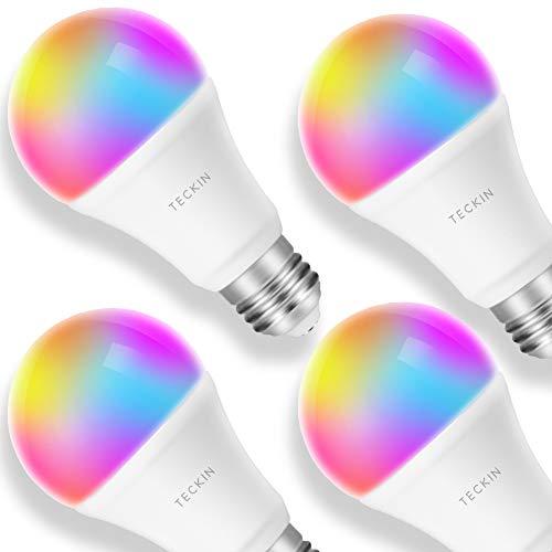 4X Bombilla TECKIN LED RGB inteligente 8W compatible con Alexa