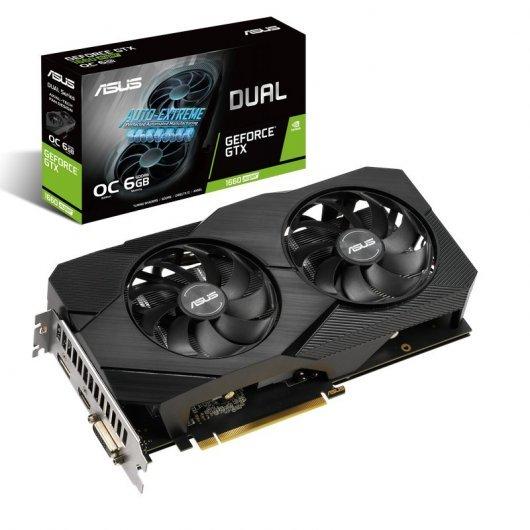 Asus GeForce GTX 1660 SUPER OC Dual 6GB GDDR6 + Ratón Asus Cerberus Gratis
