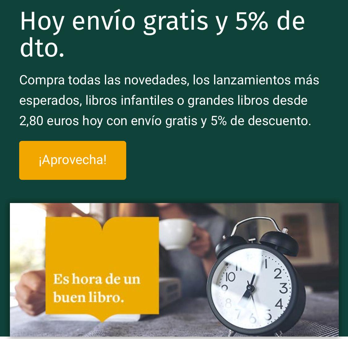 ENVÍO GRATIS Y 5% DESCUENTO