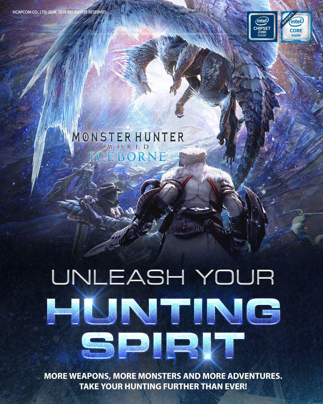 Monster Hunter World Iceborne GRATIS por la compra de productos MSI