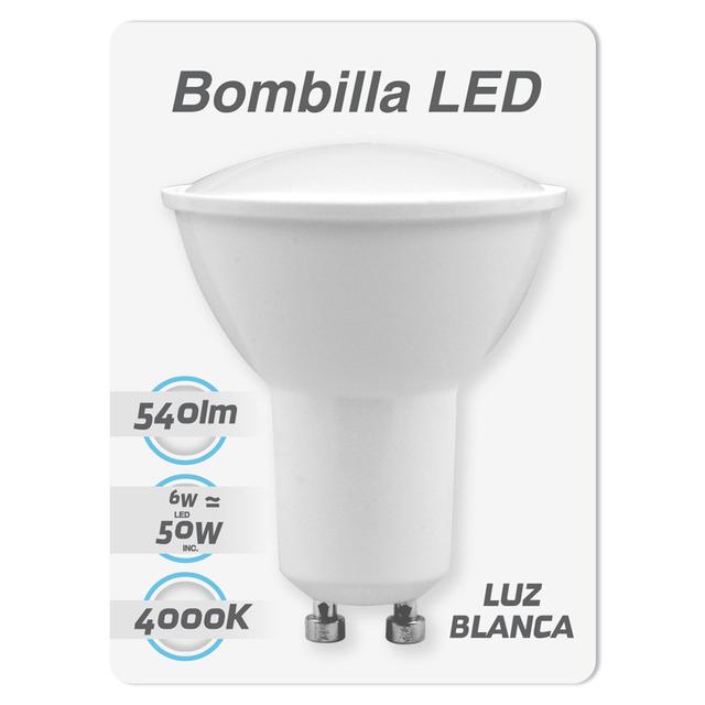 Bombilla LED GU10 6W 540LM en Bricor