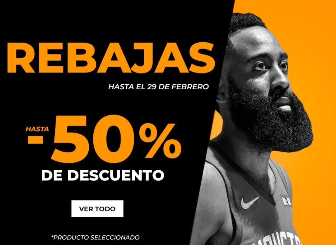 Hasta -50% de descuento en Basketworld