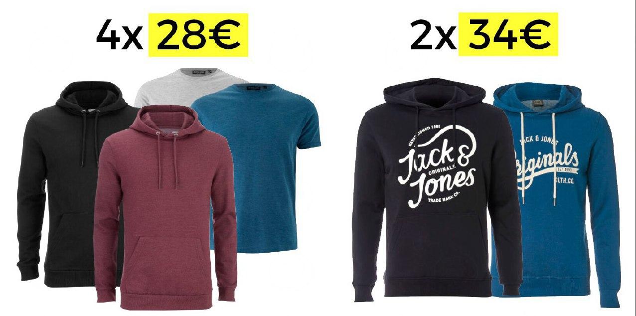 2 sudaderas + 2 camisetas = 28€ y 2 sudaderas Jack&Jones = 34€