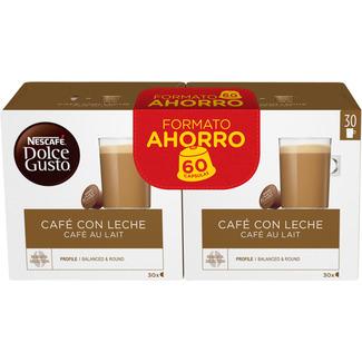 3x2 y 6 euros de descuento en cápsulas dolce gusto café con leche o intenso en Hipercor.es