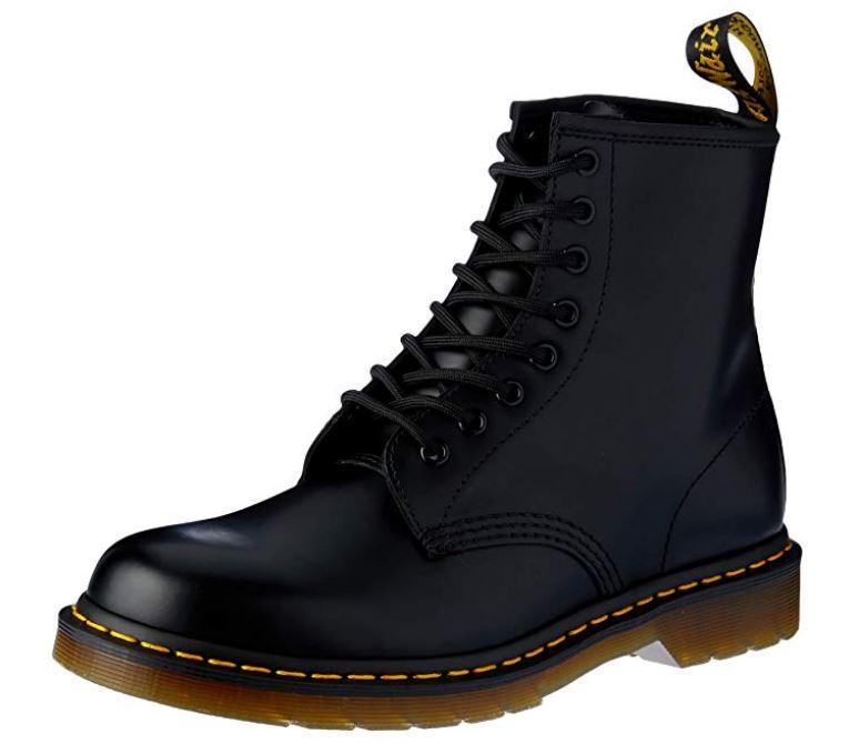 Dr. Martens 1460 - Botas Militares, Negro (Black Smooth), 45 EU