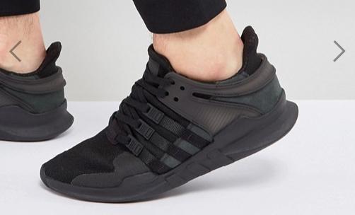TALLA 36.5 - Zapatillas de deporte negras EQT Support ADV CP8928 de adidas Originals
