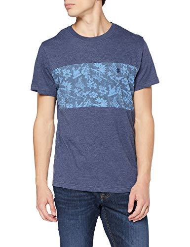 TALLA L - Izod Printed Colorblock tee Camiseta para Hombre