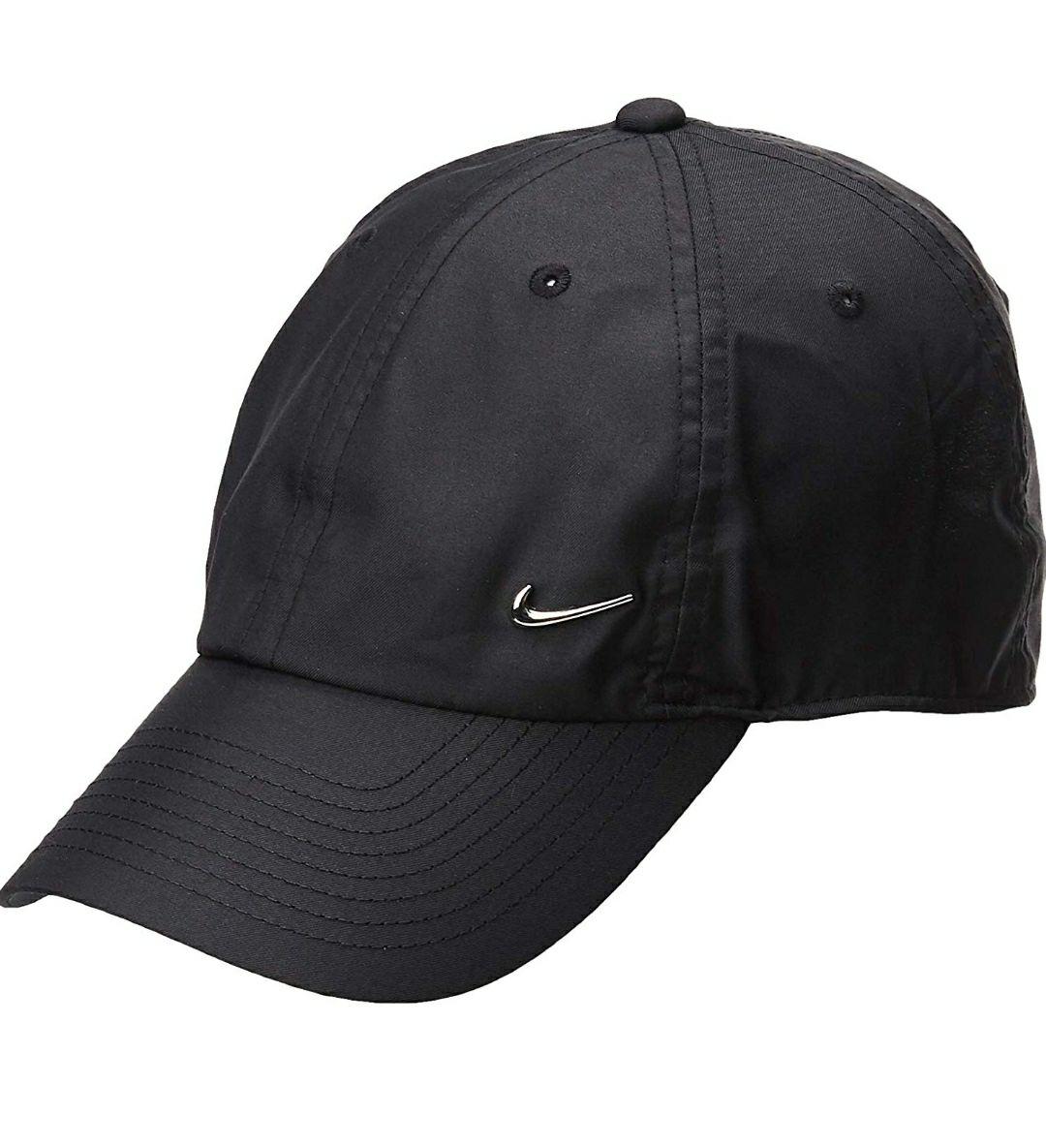 Gorra ajustable Nike Swoosh H86 negra y metal