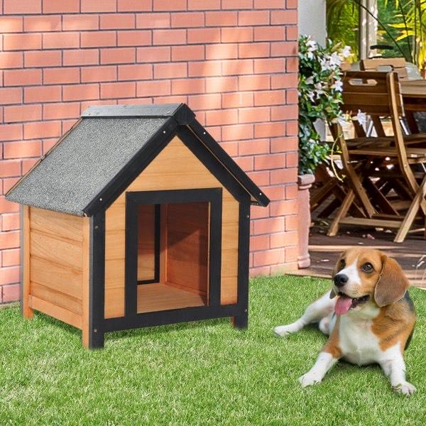 Caseta para perritos 60cm PawHut (Madera)