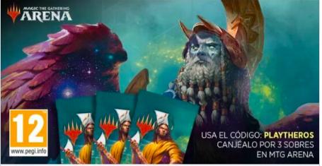 3 sobres gratis para Magic The Gathering Arena
