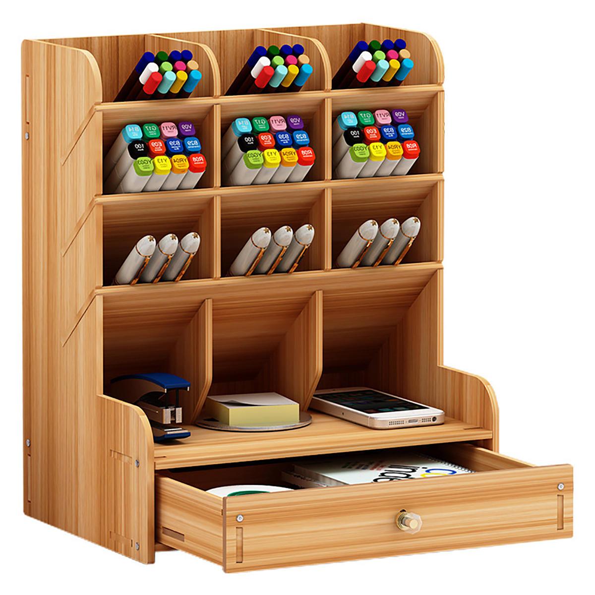 Mueble lapicera con cajón de madera