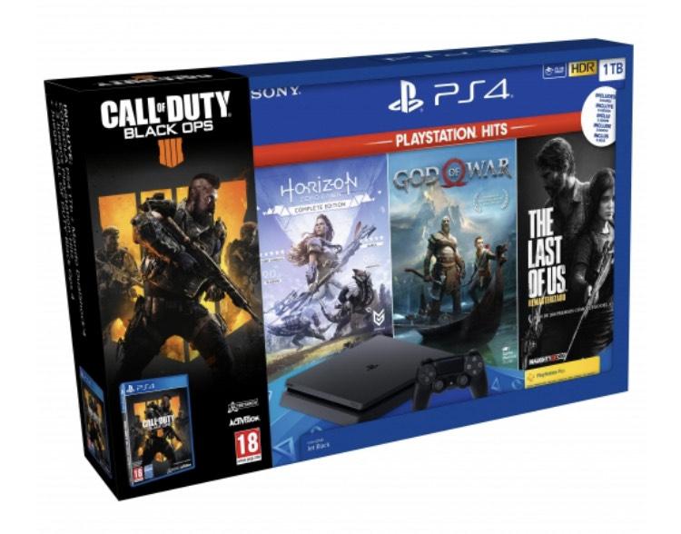 Pack PS4 1TB con 4 juegazos desde 229€