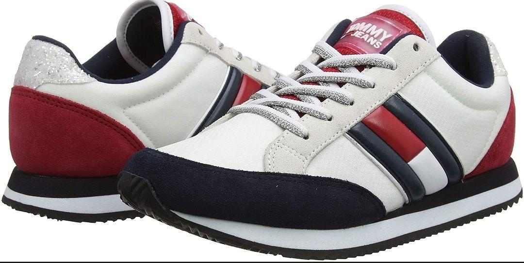 TALLA 40 - Tommy Hilfiger Wmns Casual Retro Sneaker, Zapatillas para Mujer