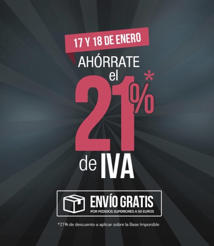 La tienda en casa: Ahórrate el 21% de IVA los días 17 y 18 de enero