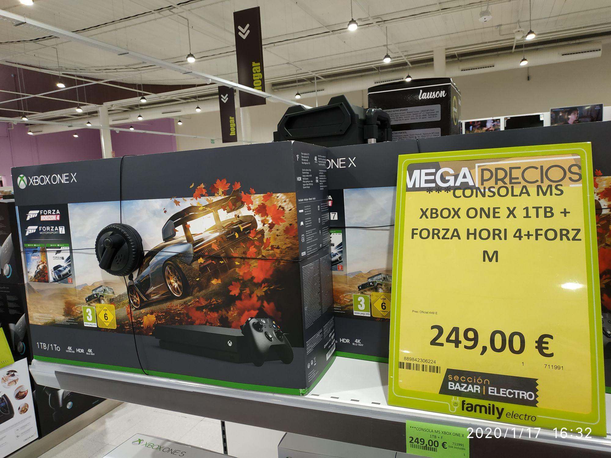 Xbox one x más Forza Horizon