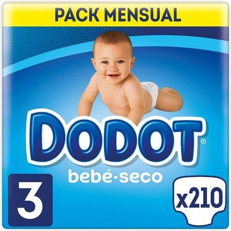 Pañales Dodot bebe-seco Talla 3 210 unidades