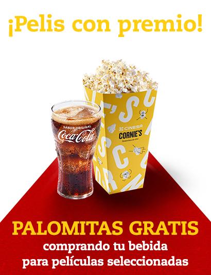 Cines Cinesa - Palomitas gratis al comprar 1 bebida