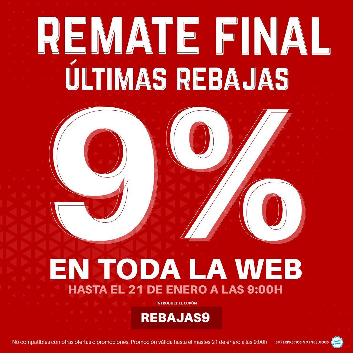 Descuento del 9% en toda la web