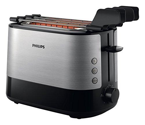 Philips HD2639/90 - Tostadora (730 W, ranura extra grande, accesorio para sandwich), negro y plata [Clase de eficiencia energética A]