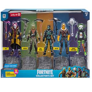 Set Fortnite de 15 piezas+ 5 figuras articuladas 10cm (AlCampo)