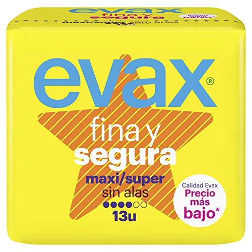 Evax Fina y Segura Super/Maxi Compresas - 13 Unidades (Precio al tramitar el pedido)