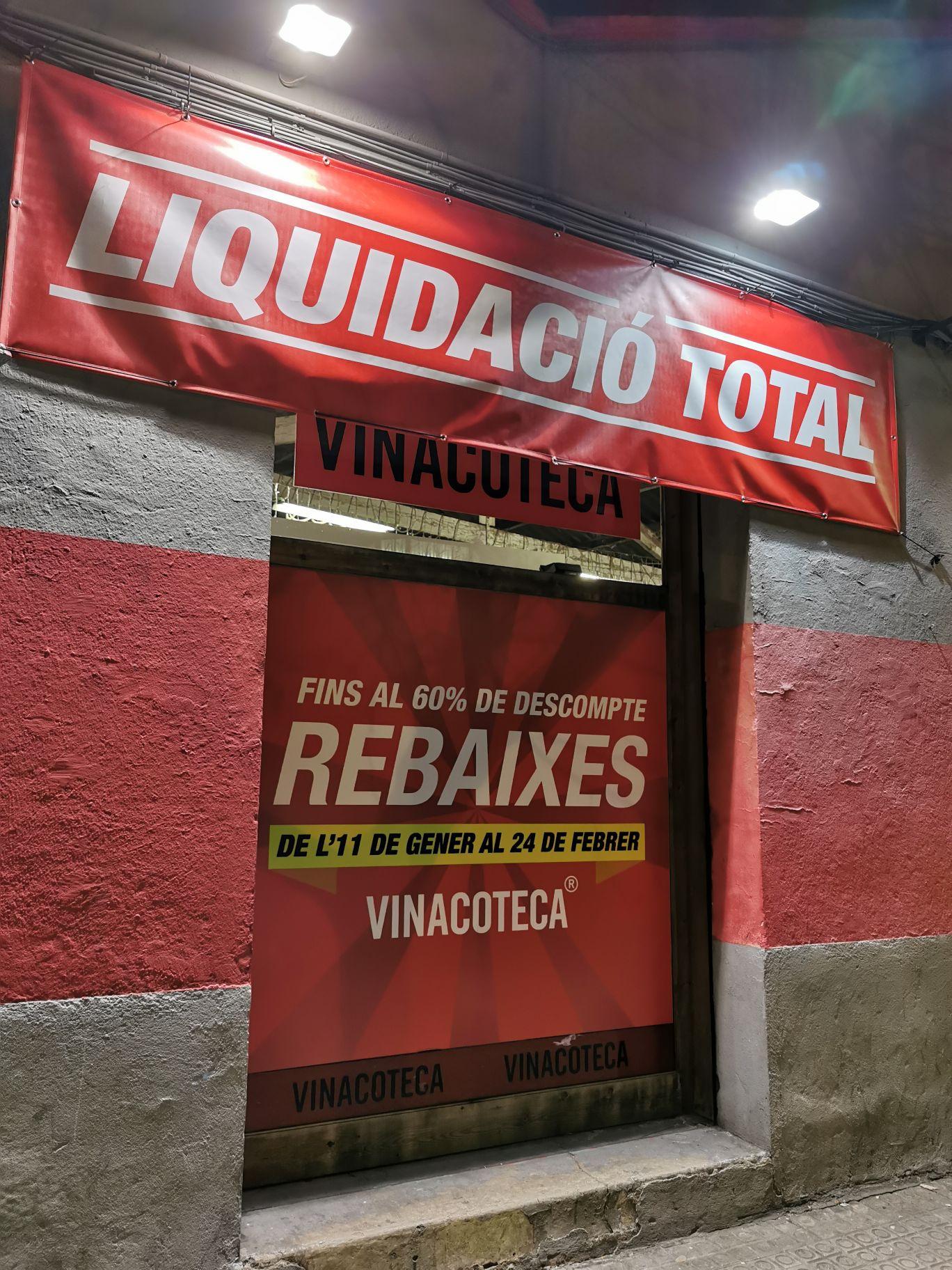 Liquidación en VINACOTECA CLOT (Barcelona)