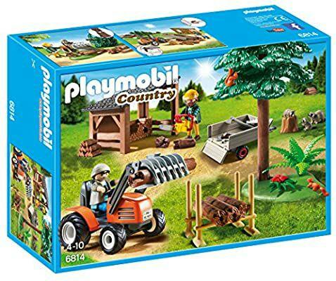 PLAYMOBIL- Country Almacén de Madera y Tractor