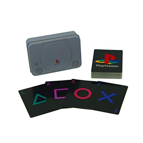 Cartas PlayStation con lata de almacenamiento de la clásica Ps1