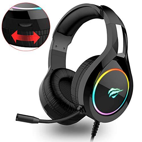 Auriculares Gaming PS4 HAVIT Iluminación RGB Cascos Gaming Xbox One/PC/Móvil.