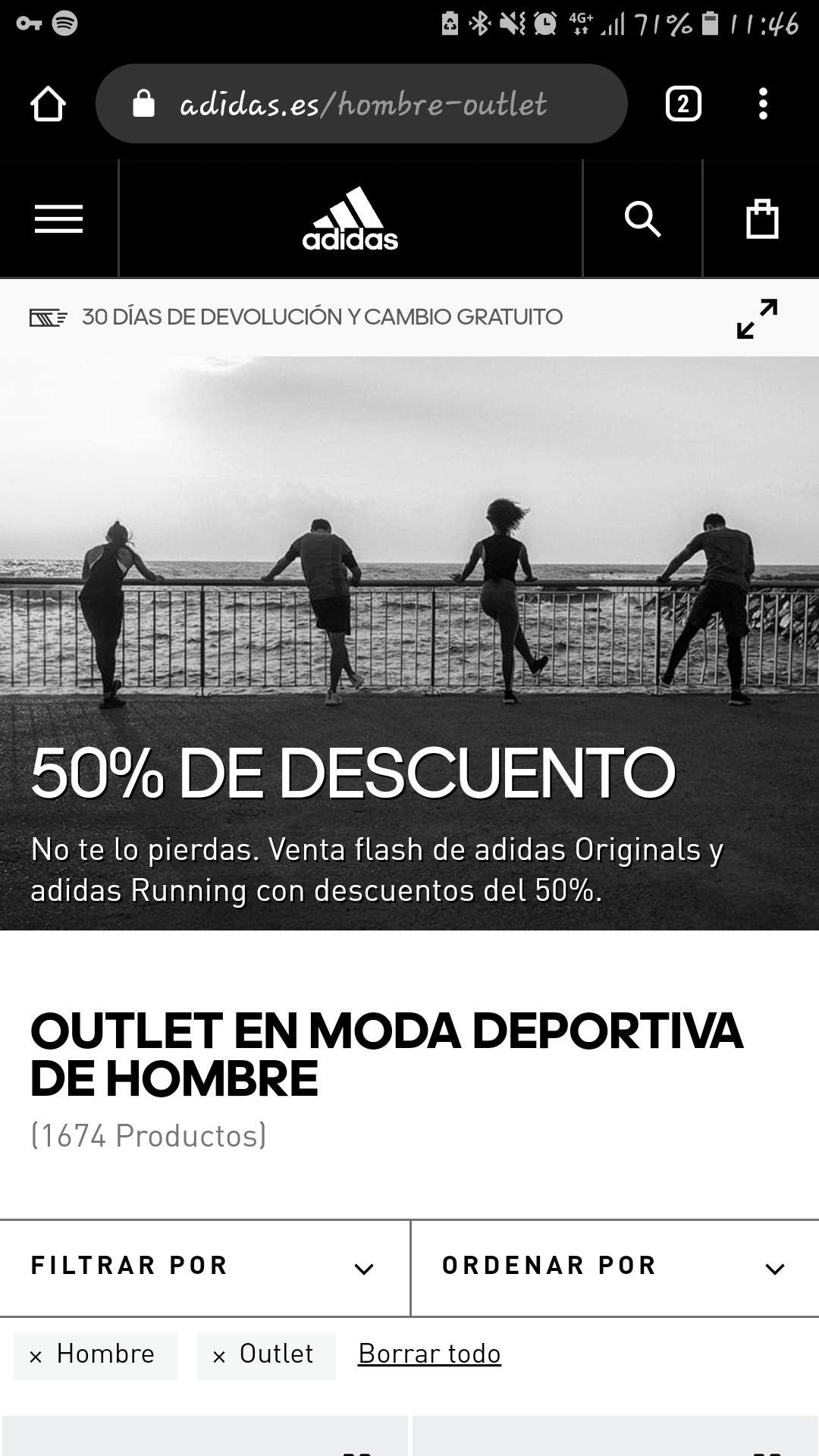 Adidas 50% venta flash